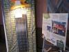 détail du système photovoltaïque et un panneau