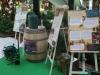 """panneaux et objets de l'exposition """"le potager est un jardin"""""""